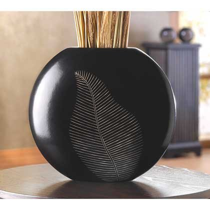 Home Vase Tabletop Ornament Filler Black Wooden Elegant Centerpiece Decorative Unique Art Wood Decor