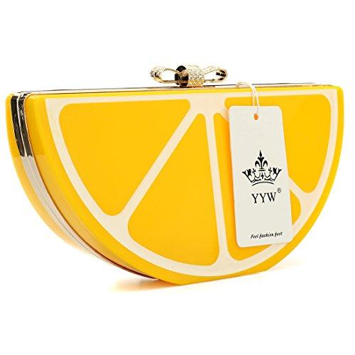 YYW Evening Bag - Cartera de mano para mujer amarillo amarillo