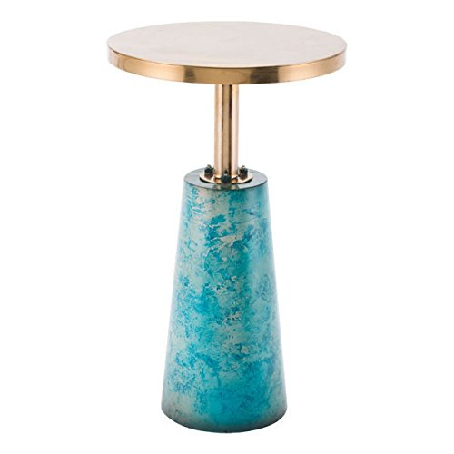 Modern Desk Zuo Modern (Zuo Zaphire End Table, Teal)