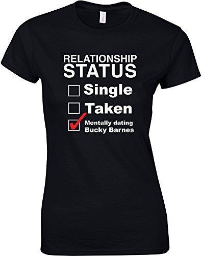 Mentally Dating Bucky Barnes, Ladies Printed T-Shirt