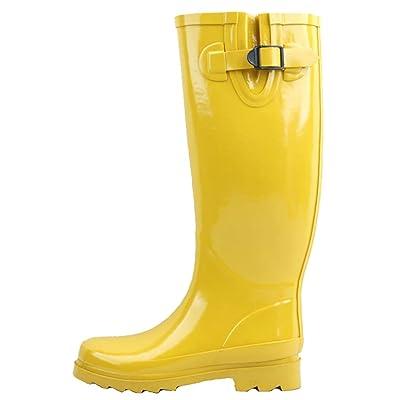 Sunville Women's Mid Calf Waterproof Rubber Garden Rainboots   Rain Footwear