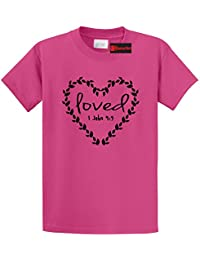 Men's Loved Religious Graphic Tee T-Shirt