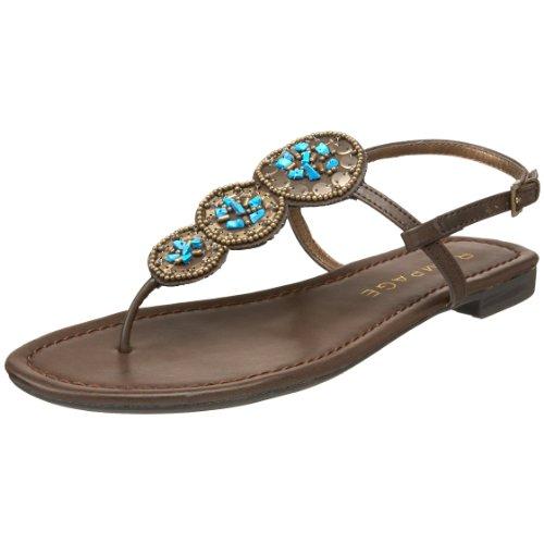 Rampage Women's Kamelot T-Strap Sandal,Brown,6.5 M US - Rampage T-strap Sandals