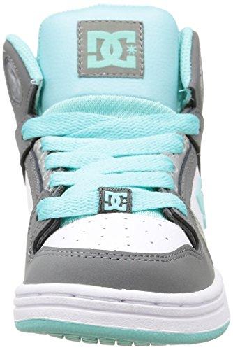 DC Shoes Rebound G Mädchen Sneaker Grau - Gris (Grey/Blue/White)