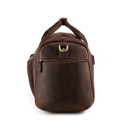 Kattee Retro Leather Duffel Bag Large Overnight Travel Bag by Kattee (Image #2)
