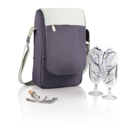 Picnic Time 'Barossa' Insulated Wine Tote with Wine Accessories for Two, Aviano Collection