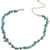 Boho White Stone Turquoise Handmade Necklace Ethic Tribal Festival Jewellery (Turquoise)