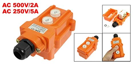 Uxcell monmentary up down button hoist pushbutton switch 10a ith cob uxcell monmentary up down button hoist pushbutton switch 10a ith cob 31 electrical outlet switches amazon asfbconference2016 Images
