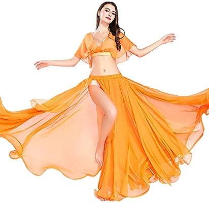 ROYAL SMEELA Traje de Danza del Vientre Top Falda Danza del Vientre Faldas largas práctica Rendimiento Maxi Tops Falda de Flamenca Ropa Mujer ...