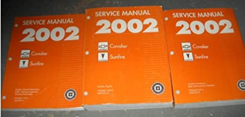 2002 chevy cavalier pontiac sunfire service manual set 3 volume rh amazon com Pontiac Solstice 2002 pontiac sunfire owners manual pdf