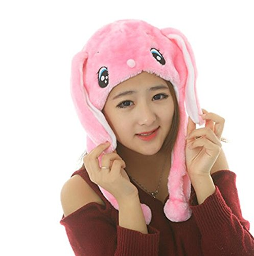 Dalino Creative Cute Cartoon Performance Headwear Plush Animal Headgear (Pink Rabbit) by Dalino