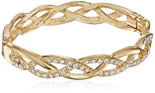 - Napier Women's Gold-Tone and Crystal Hinge Bangle Bracelet