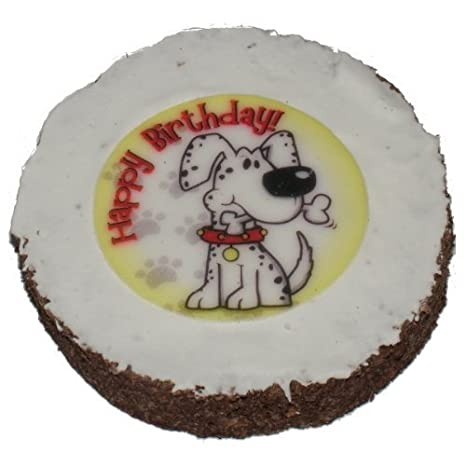 Dog Birthday Cake Hatchwells Gift Present Treat 4in Dia X 3 Thick Amazoncouk Pet Supplies