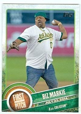 Biz Markie trading card (Rapper Just A Friend) 2015 Topps Baseball #FP05 First Pitch
