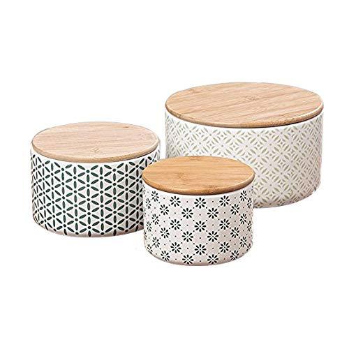 Set di 3 contenitori con Tappo ca H 8-10cm Decorazione per Interni dispensa Biscotti Unbekannt Accessori soprammobile