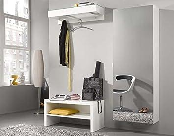 Elegance Garderoben Paneel Rahmen Wandregal Wand Board Weiss