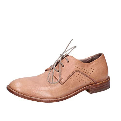 Beige Mujer Zapatos Cuero Elegantes Moma x6zqw6If