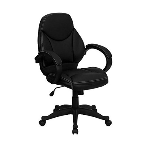 Executive Contemporary Leather Office Chair Flash Furniture