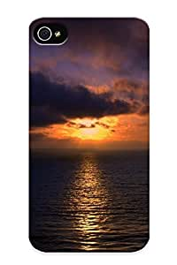 Jersey City Premium Protective Hard Case For Iphone 4/4s- Nice Design - Water Sunset Ocean