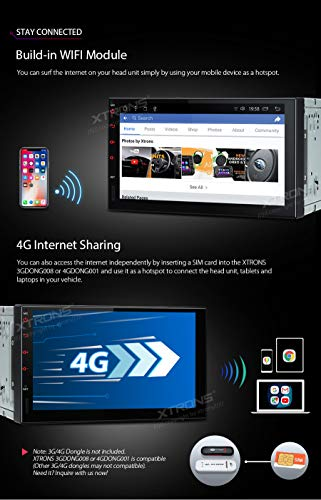 XTRONS Android 8 1 7 inch Multi-Touch IPS Display Octa-Core 2GB + 32GB  Universal 2 DIN Car Head Unit Multimedia GPS Navigator Stereo Radio with  USB SD