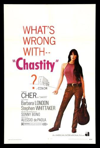 Chastity * 1SH Cher Orig Movie Poster 1969 Hippy Hippie