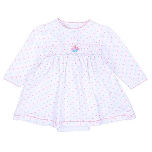 Smocked Cupcake (Magnolia Baby Baby Girl Cute Cupcake Smocked Dress Set Pink 3 Months)