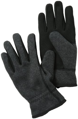 U|R Men's Wess Gathered Wrist Touchscreen Glove, Charcoal, Large/X-Large