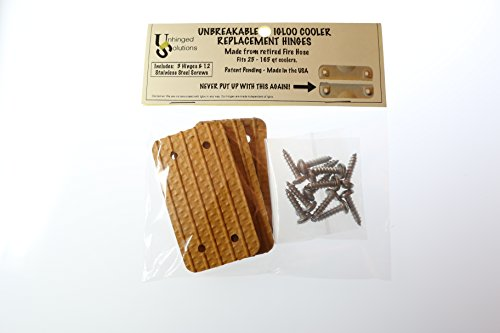 Unhinged Solutions Igloo Cooler Replacement Hinges, (Set of 3) - Unbreakable, Repurposed Fire Hose by Unhinged Solutions (Image #2)