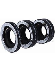 Movo Photo AF Tubo de extensión Macro Set para Canon EOS-M, M2, M3, M10sin Espejo Sistema de cámaras con 10mm, 16mm y 21mm Tubes (Soporte de Metal)