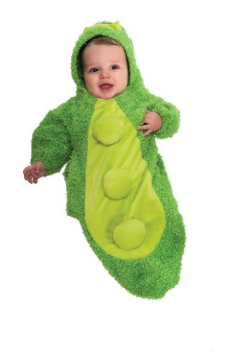 [Rubie's Costume Chenille Pea In The Pod Bunting Costume, Green, Newborn] (Pea Costumes)