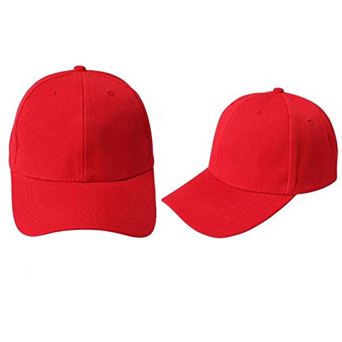 Quaanti Clearance Price!Unisex Baseball Cap Outdoor Sports Blank Hat Solid Color Adjustable Hat  (Red)