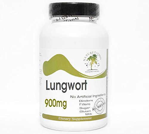 Lungwort 900mg ~ 180 Capsules – No Additives ~ Naturetition Supplements Review