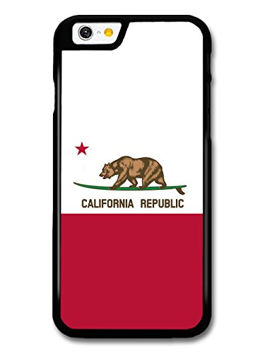 California Bear with Red on Surfboard Funny Cool Cute case for iPhone 6 6S