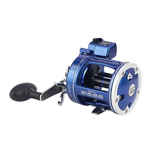 (Metal Left/Right Handle Casting Sea Fishing Reel Saltwater Baitcasting Reel Coil 12 Ball Bearings Cast Drum Wheel)