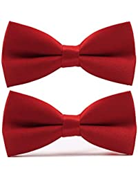 9fdff2747cbb Men's Classic Pre-tied Bow Ties Clip On Formal Solid Tuxedo Adjustable  Bowtie Wedding Packs