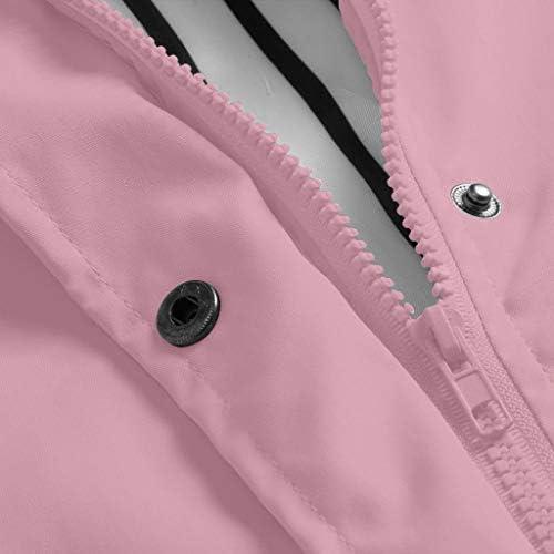Women Solid Rain Jacket Outdoor Plus Waterproof Hooded Raincoat Windproof