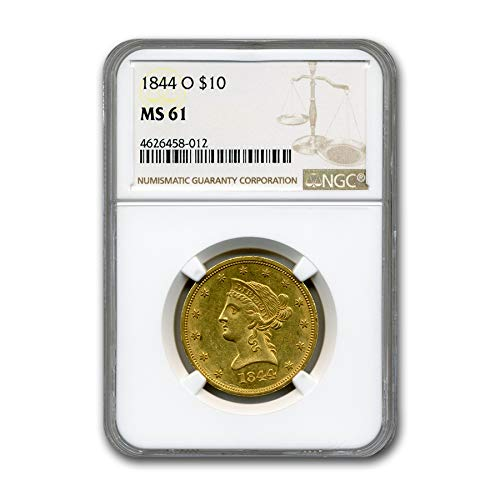 1844 O $10 Liberty Gold Eagle MS-61 NGC G$10 MS-61 NGC