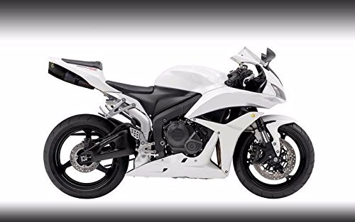 Gloss White Complete Fairing Bodywork Painted ABS plastic Injection Molding Kit w/ tank cover for 2007-2008 Honda CBR 600 RR CBR600RR 600RR by FocusAtOne (Image #3)'