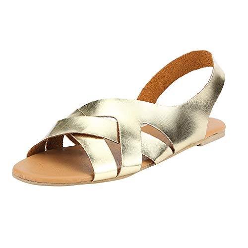 LOVOZO 2019 Newest Rome Women Summer Sandals Hemp Rope Flat Student Beach Slippers Open Toe Sandals -