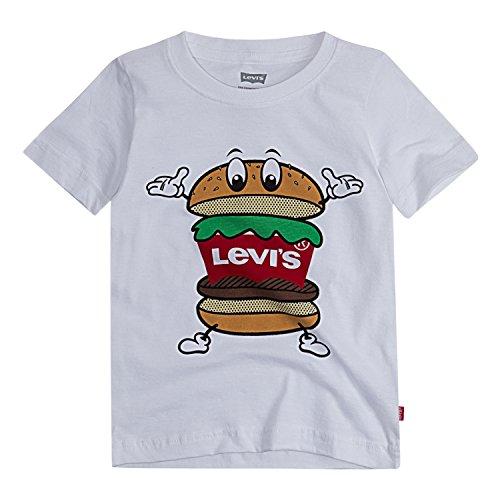 Levi's Boys' Toddler Batwing T-Shirt, White Hamburger, 3T