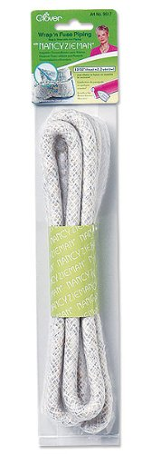 """CLOVER Wrap 'n Fuse with Nancy Zieman Piping 12/32"""" X2.2 Yards-"""