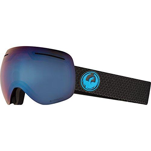 - Dragon Alliance X1 Ski Goggles, Large, Black, Split/Luma Blue Ion Lens