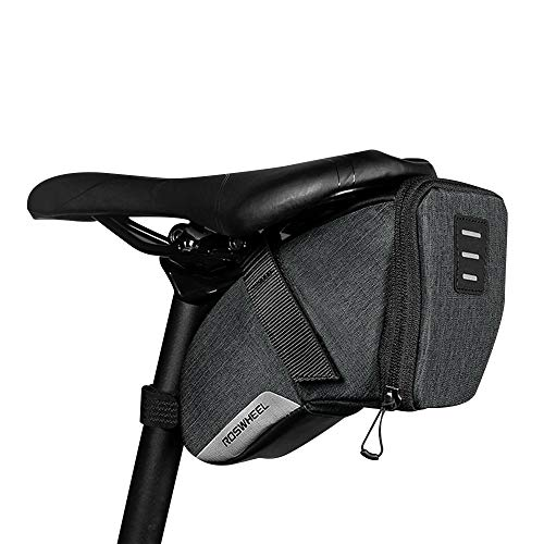 XYBEST E-COMMERCE ROSWHEEL Water-Resistant Bike Saddle Bag Under Seat Strap-On Pack Tail Pouch/Seat Bag/Cycling Bag (L)