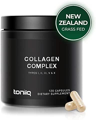 Ultra High Strength Multi Collagen Pills (2100 mg - Type I, II, III, V & X) - Grass-Fed from New Zealand and Wild-Caught from Norway - Collagen Peptides Protein Blend for Hair, Skin and Joints