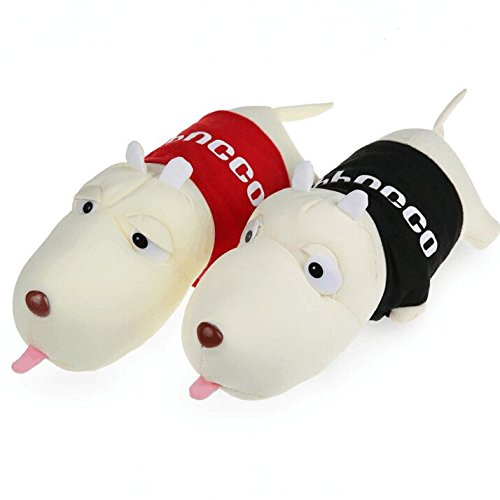 Travel Lovers Cute Cartoon Dog Toy Car Accessories/Plush toys/Car air freshener Doll/Car Deodorizing Bag, Creative Decompression Toys, Kids Gift, Red + Black Bamboo Bobble Head