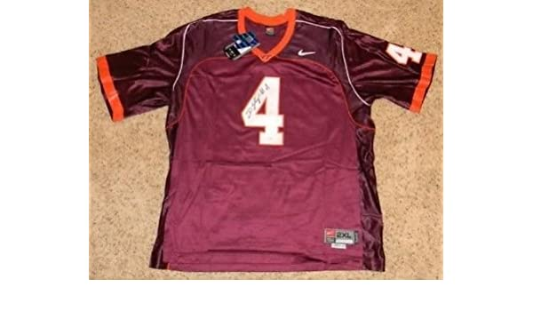55be8949b2e Deangelo Hall Signed Autographed Vt Virginia Tech Hokies  4 Nike Jersey  (authenticated by JSA) at Amazon s Sports Collectibles Store