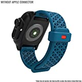 Electronics : Catalyst - for Apple Watch Cases by Catalyst, Sport Band for Apple Watch 38mm 40mm, Hypoallergenic, Breathable, Wristband Strap Replacement Band for Catalyst Case for Series 5/4/3/2/1- Blue/Orange