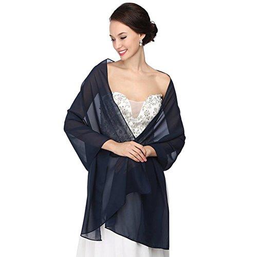 RLDRESS Womens Chiffon Bridal Evening Soft Wrap Scarf Shawl