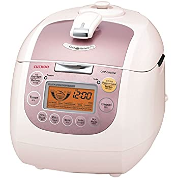 Cuckoo CRP-G1015F Electric Heating Pressure Rice Cooker, 10 cups, Pink