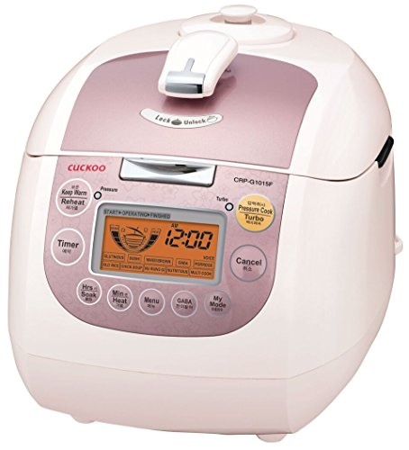 Cuckoo CRP-G1015F 10 Cup Electric Pressure Rice Cooker, 110v, Pink